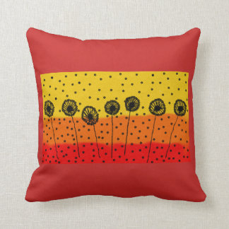 throw cushion with colourful design