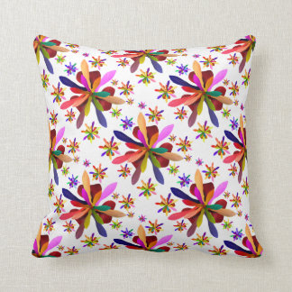 Throw Cushion with Stylized Flower 1