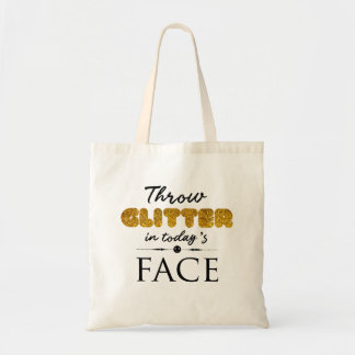 Throw glitter in today's Face Tote Bag