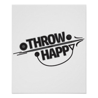 Throw Happy Track and Field Poster