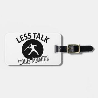 throw javelin design luggage tag