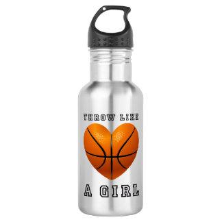 throw like a girl basketball 532 ml water bottle