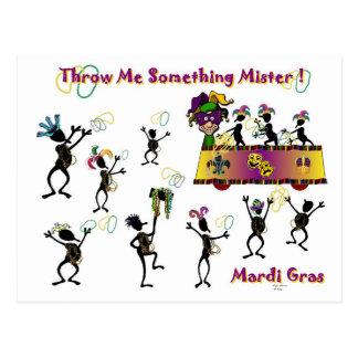 Throw me something Mister! Postcard