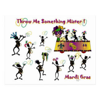 Throw me something Mister! Postcard