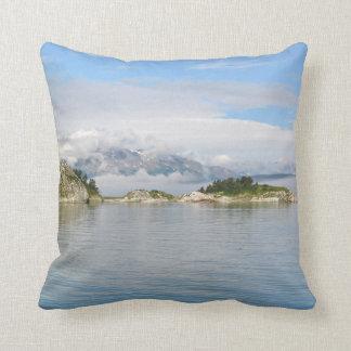 "Throw Pillow 16"" x 16"" of Glacier Bay Alaska"