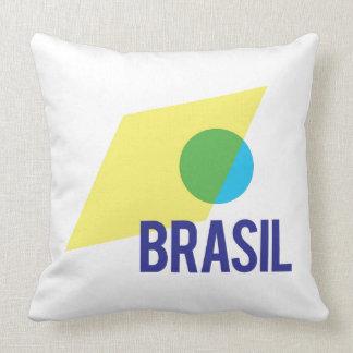 Throw Pillow Brasil Flag