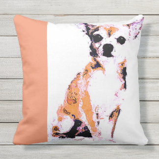 Throw Pillow Brown Chihuahua (of 4 colors)