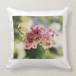 Throw Pillow - Canvas Art - Bougainvillea