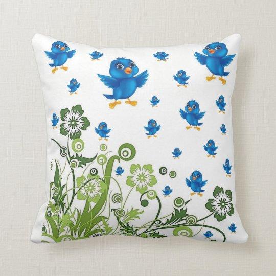 throw pillow decore birds