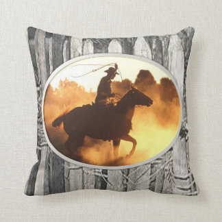 throw pillow decore cowboy