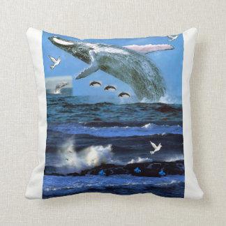 throw pillow decore dolphin ocean