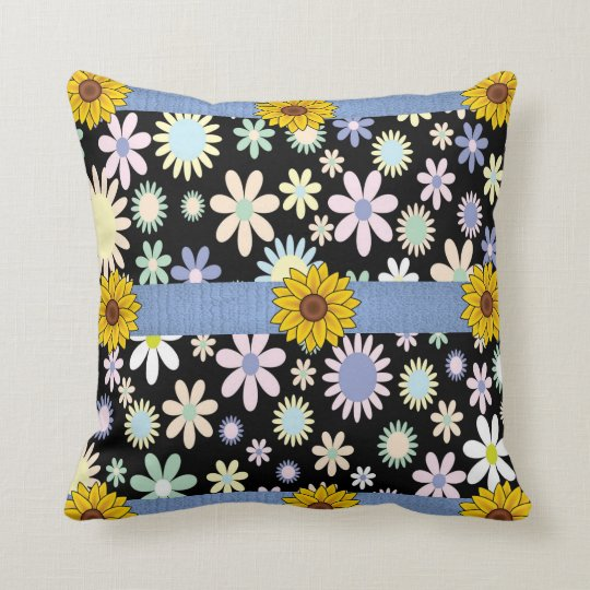 throw pillow decore floral