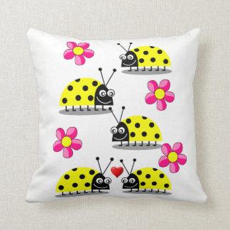 throw pillow decore ladybug