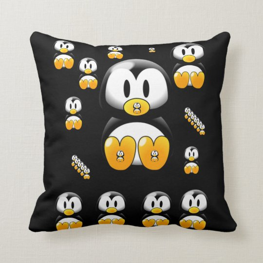 throw pillow decore penguin