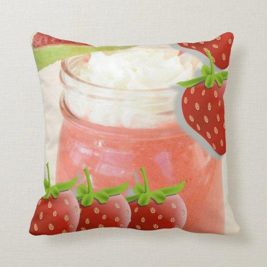 throw pillow decore strawberry daquiri