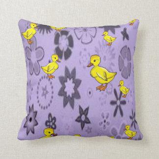 throw pillow decore yellow ducks