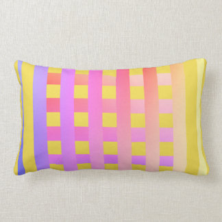 Throw Pillow-Designed in bright & happy colors Lumbar Pillow