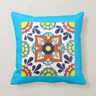 Throw pillow - double sided talavera tile design