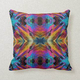 Throw Pillow; Fractal Crystal Design 1 Throw Pillow