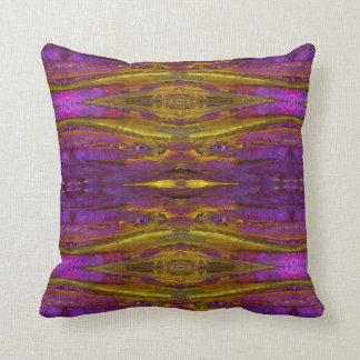 Throw Pillow; Fractal Crystal Design 2 Throw Pillow