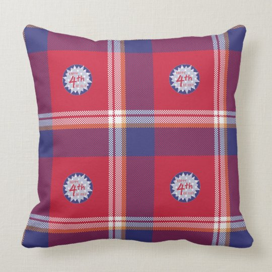 Throw Pillow  Happy 4th July