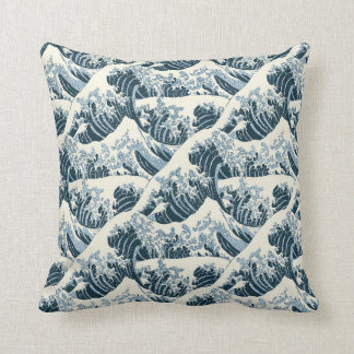 Throw Pillow - Hokusai's The Wave