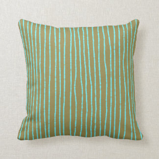 Throw pillow in khaki and blue