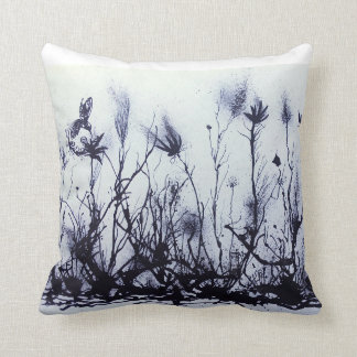 Throw pillow/Living room pillow/Black and white/ Throw Pillow