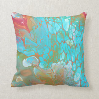 Throw pillow/Living room pillow/Blue and Orange/ Throw Pillow