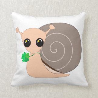 Throw Pillow - Lucky Snail