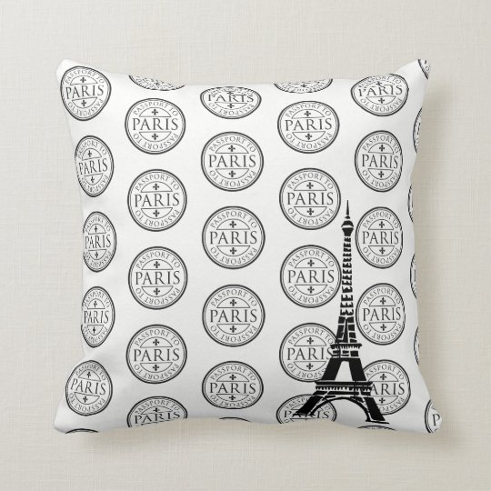 Throw Pillow-Paris Throw Pillow