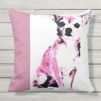 Throw Pillow Pink Chihuahua (of 4 colors)