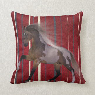 Throw pillow running horse