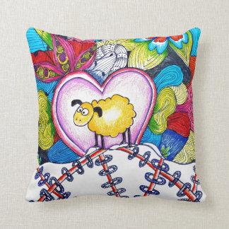 throw pillow sheep well