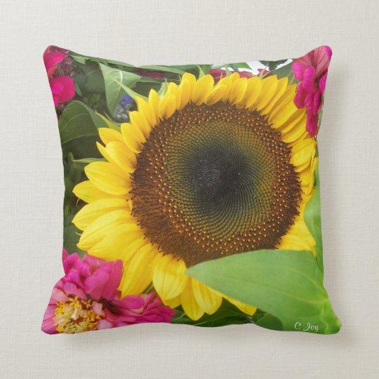 Throw Pillow: Sunflower Throw Pillow