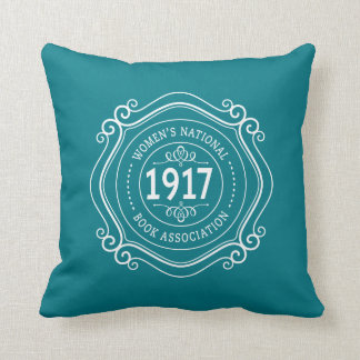 throw pillow teal wnba anniversary crest