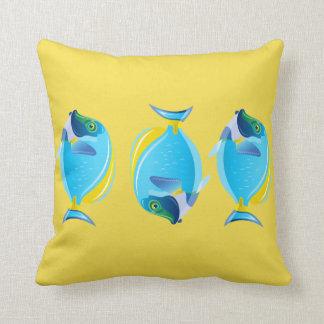Throw Pillow-Tropical Fish Throw Pillow