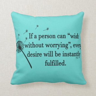 Throw Pillow Wish Without Worry