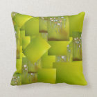 throw pillow with abstract design