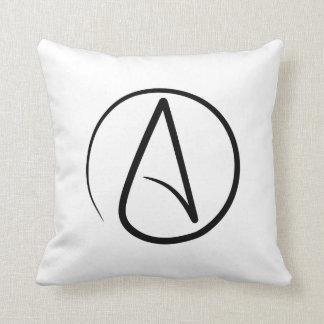 Throw Pillow with Atheism symbol