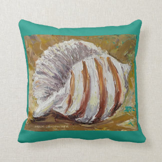 Throw Pillow with Conch Shell