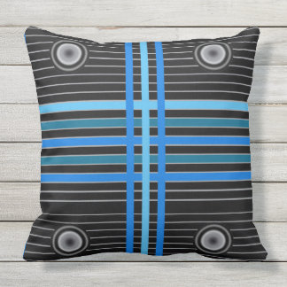 Throw Pillow with Design based on Solar Panels