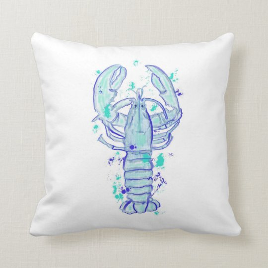 Throw pillow with lobster design