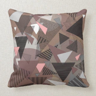 "Throw Pillow with ""Triangles Sierra"" design"