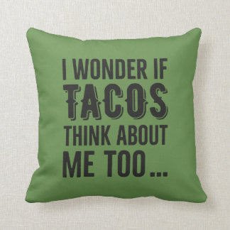 Throw Pillow Wonder Tacos Thinking