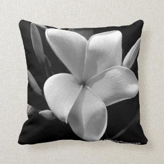 Throw pillows B&W tropical Frangipani