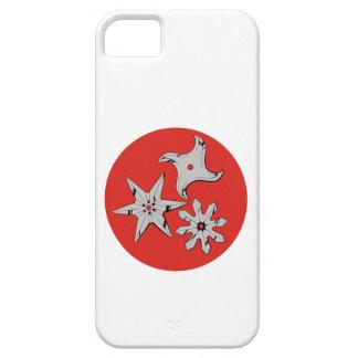 Throw stars Ninja shuriken iPhone 5 Case