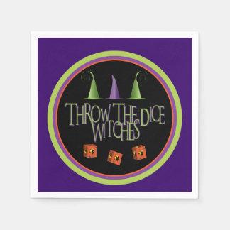 Throw The Dice Witches Bunco Napkins Disposable Napkins