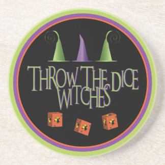 Throw The Dice Witches Coaster