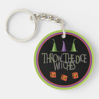 Throw The Dice Witches Key Chain